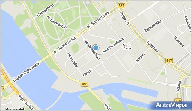 Warszawa, Sierakowskiego Józefa, mapa Warszawy