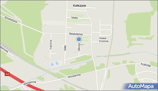 Zabrze, Sikory Jana, mapa Zabrza