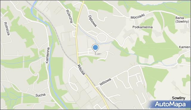 Limanowa, Skrudlak, mapa Limanowa