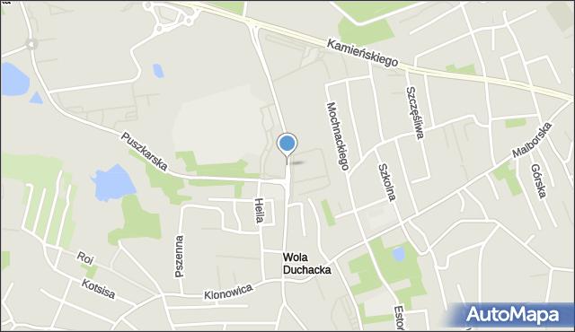 Kraków, Sławka Walerego, mapa Krakowa