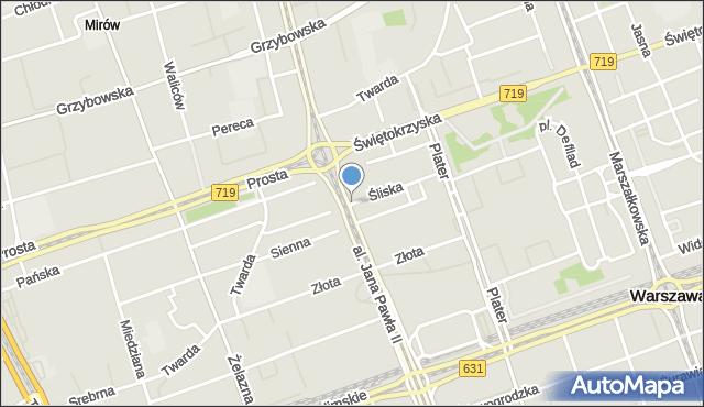 Warszawa, Śliska, mapa Warszawy