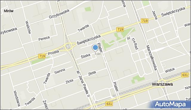 Warszawa, Sosnowa, mapa Warszawy