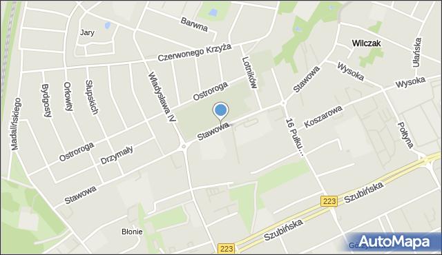 Bydgoszcz, Stawowa, mapa Bydgoszczy