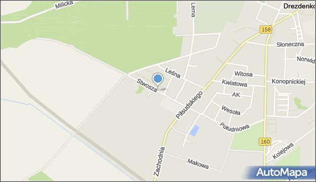 Drezdenko, Stwosza Wita, mapa Drezdenko