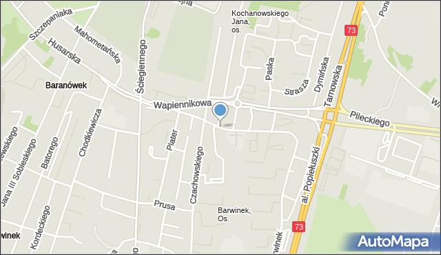 Kielce, Starowapiennikowa, mapa Kielc