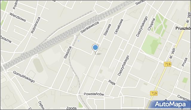 Pruszków, Stalowa, mapa Pruszków