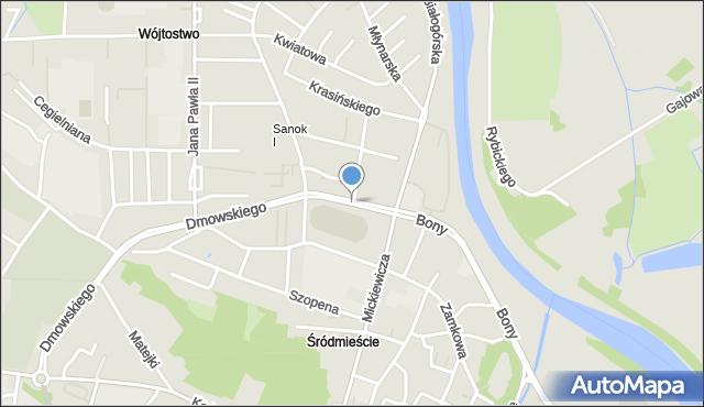 Sanok, Staszica Stanisława, mapa Sanok