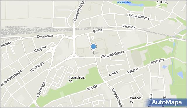 Zielona Góra, Staszica Stanisława, mapa Zielona Góra