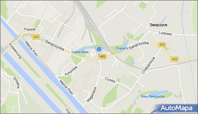 Wrocław, Swojczycka, mapa Wrocławia