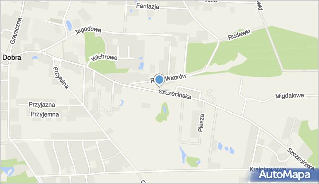 Dobra, Szczecińska, mapa Dobra
