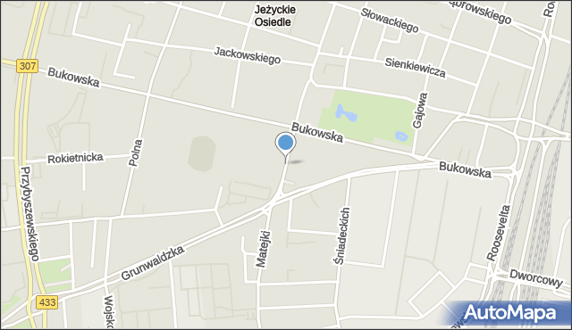 Poznań, Szylinga Arnolda, mapa Poznania
