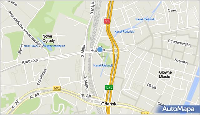 Gdańsk, Targ Rakowy, mapa Gdańska