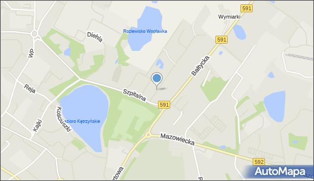 Kętrzyn, Targowa, mapa Kętrzyn
