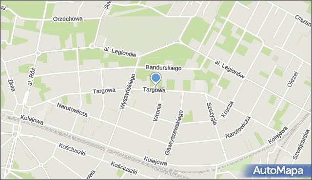 Legionowo, Targowa, mapa Legionowo