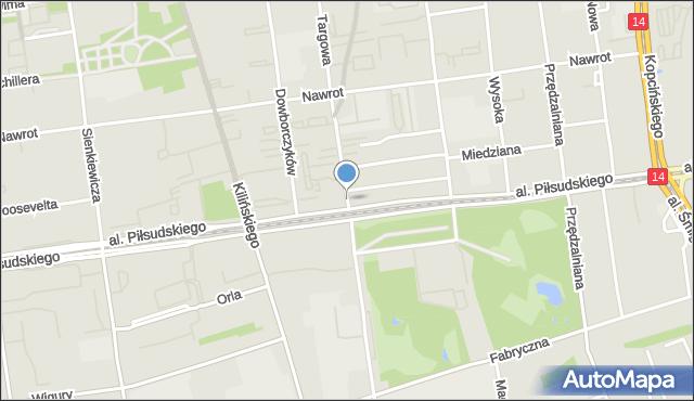 Łódź, Targowa, mapa Łodzi