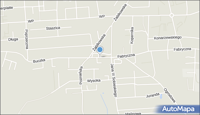 Luboń, Targowa, mapa Luboń