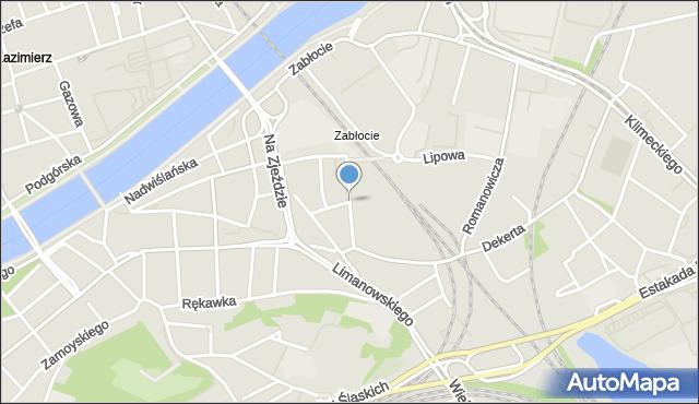 Kraków, Traugutta Romualda, gen., mapa Krakowa