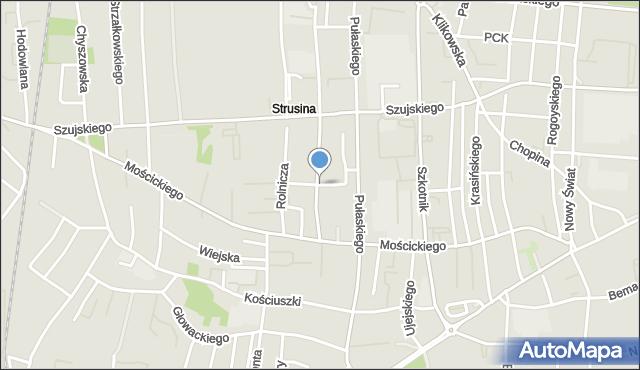 Tarnów, Ułańska, mapa Tarnów