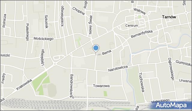 Tarnów, Urszulańska, mapa Tarnów