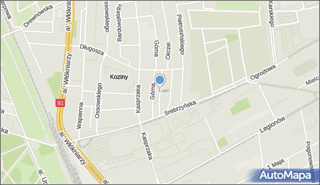 Łódź, Waryńskiego Ludwika, mapa Łodzi
