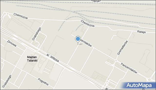 Lublin, Walentynowicz Anny, mapa Lublina