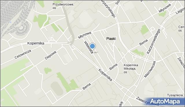 Białystok, Witebska, mapa Białegostoku