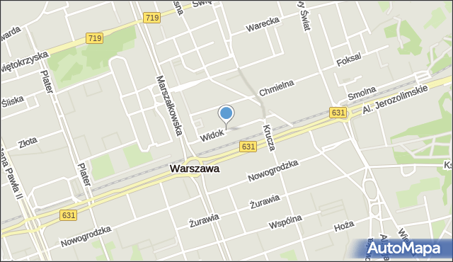 Warszawa, Widok, mapa Warszawy