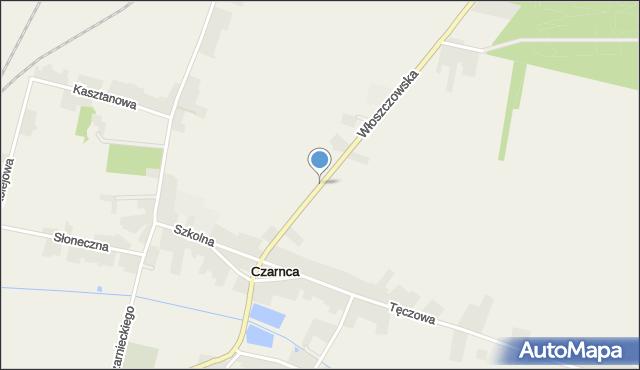 Czarnca, Włoszczowska, mapa Czarnca