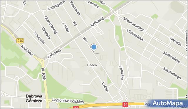 Dąbrowa Górnicza, Wojska Polskiego, mapa Dąbrowa Górnicza