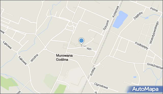 Murowana Goślina, Wojska Polskiego, mapa Murowana Goślina