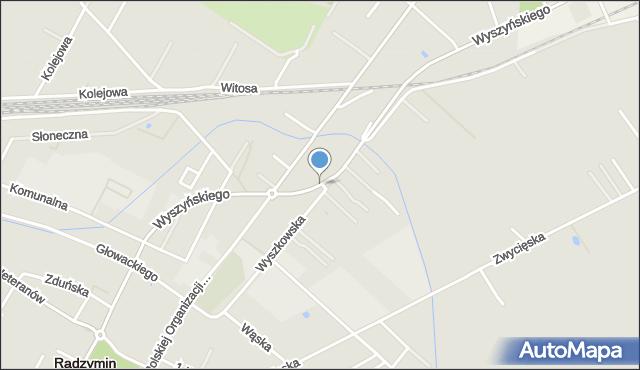 Radzymin, Wyszyńskiego Stefana, ks. kard., mapa Radzymin