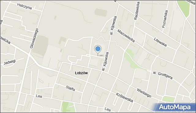 Kraków, Zakątek, mapa Krakowa