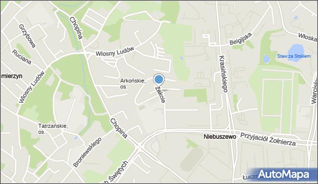 Szczecin, Zakole, mapa Szczecina