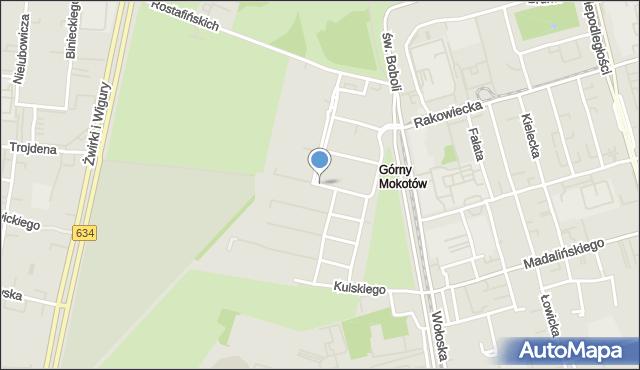 Warszawa, Żaryna Stanisława, mapa Warszawy