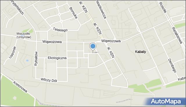 Warszawa, Za Łąkami, mapa Warszawy