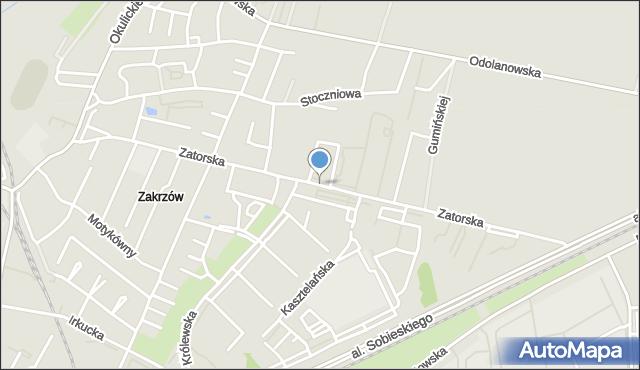 Wrocław, Zatorska, mapa Wrocławia