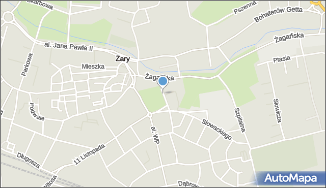 Żary, Zakopiańska, mapa Żary