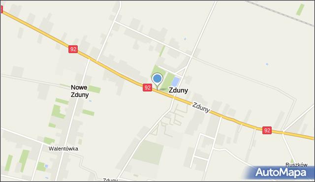 Zduny powiat łowicki, Zduny, mapa Zduny powiat łowicki