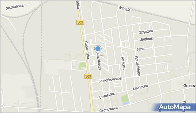 Leszno, Żółkiewskiego Stanisława, hetm., mapa Leszno