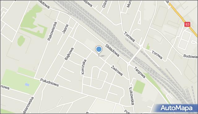 Siedlce, Żwirowa, mapa Siedlce