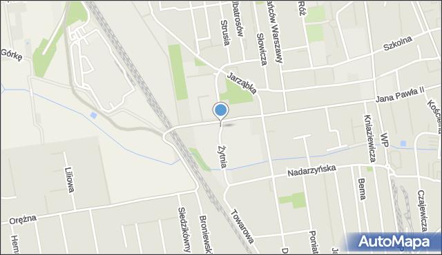 Piaseczno, Żytnia, mapa Piaseczno