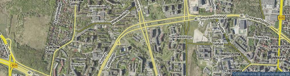 Zdjęcie satelitarne Aleja Kompozytorów Polskich al.