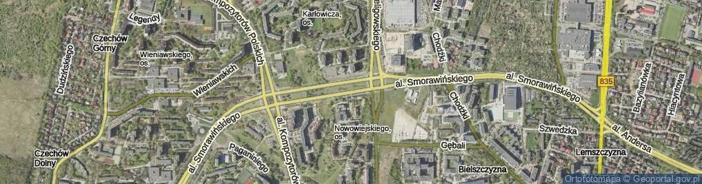 Zdjęcie satelitarne Aleja Smorawińskiego Mieczysława al.