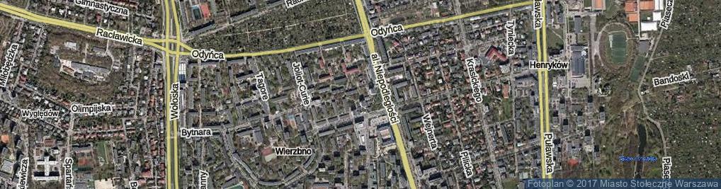 Zdjęcie satelitarne Aleja Promienistych al.