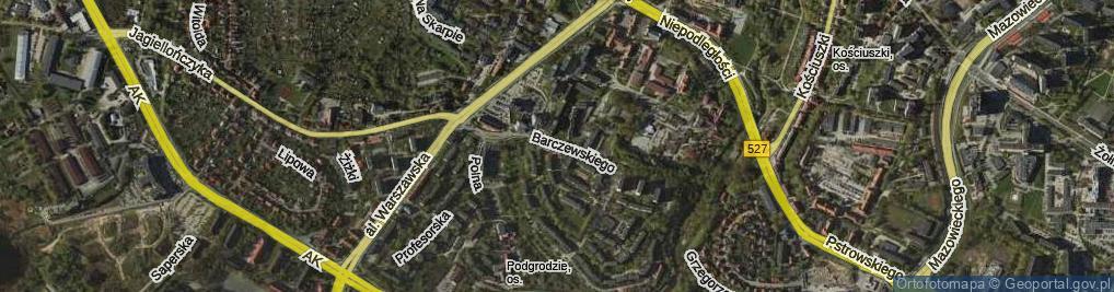 Zdjęcie satelitarne Barczewskiego Walentego ul.