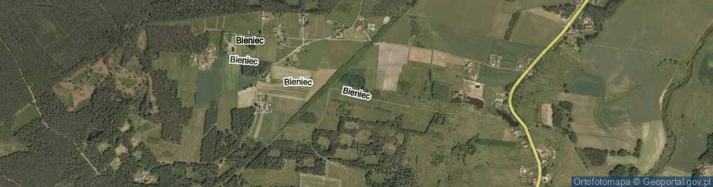 Zdjęcie satelitarne Bieniec ul.
