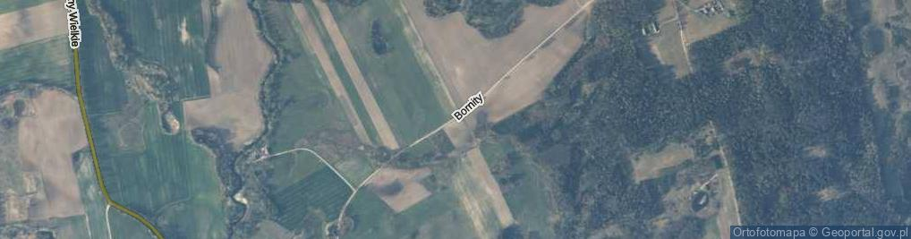 Zdjęcie satelitarne Bornity ul.