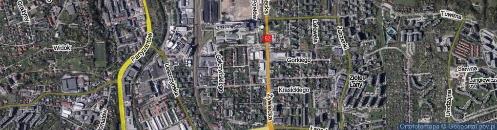 Zdjęcie satelitarne Czechowa Antoniego ul.
