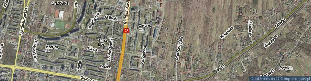 Zdjęcie satelitarne Dąbrowskiej Marii ul.