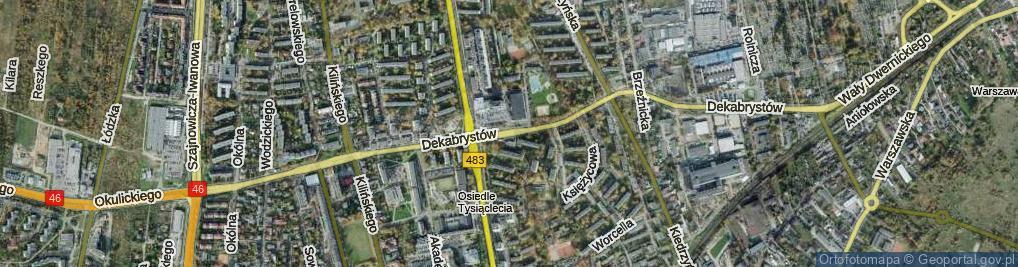 Zdjęcie satelitarne Dekabrystów ul.